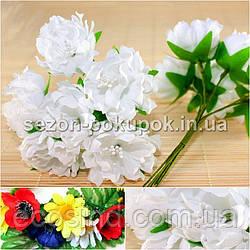 Хризантема Элит букетик, диаметр цветка~3,5-4см  (цена за букет из 6шт) Цвет - Белый