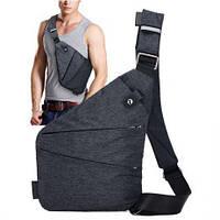 🔥✅ Мужская сумка мессенджер Cross Body ArtX Grey (Кросс боди) серая
