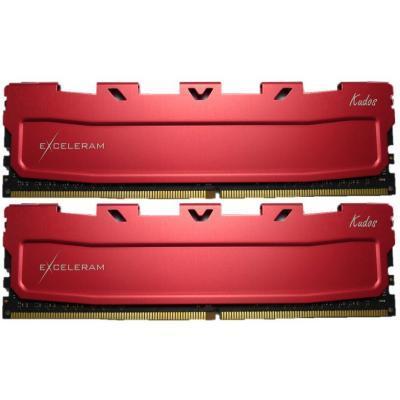 Модуль памяти для компьютера DDR4 16GB (2x8GB) 3000 MHz Red Kudos eXceleram (EKRED4163016AD)