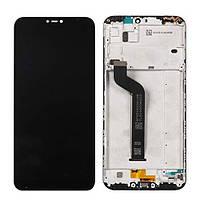 Дисплей  Xiaomi Redmi 6/Redmi 6A + тачскрин, черный, с передней панелью