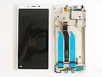 Дисплей  Xiaomi Redmi 6/Redmi 6A + тачскрин, белый, с передней панелью