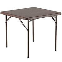 Стол раскладной квадратный Onder Metal «TR-8602» Коричневый, фото 1