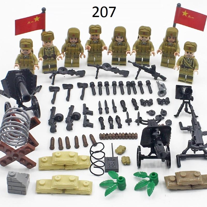 #207 Фигурки СССР советские военные лего Lego BrickArms спецназ солдаты