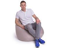 Кресло мешок Груша, ткань Рогожка, размер М бежевый