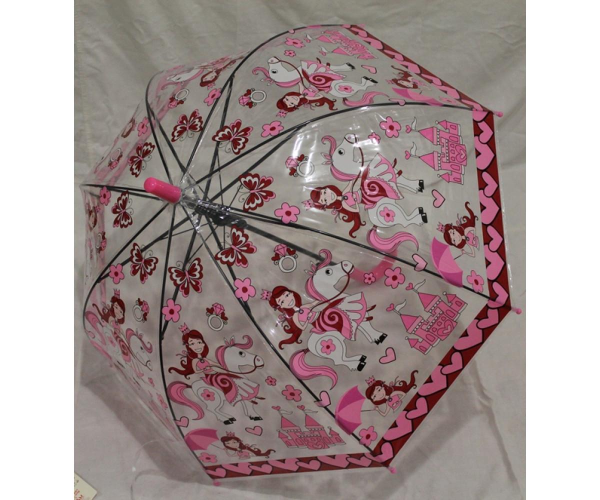 Детский зонт грибком RST полуавтомат принцесса