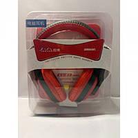 Игровые проводные наушники с микрофоном JM-H6326 Красные