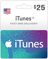Подарочная карта iTunes Apple / App Store Gift Card на сумму 25 usd, US-регион