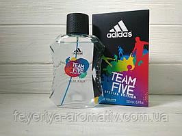 Туалетная вода для мужчин Adidas Team Five 100мл (Испания)