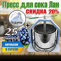 Соковижималка домашняя для винограда, яблок и всевозможных фруктов и овощей из нержавейкина 25 л. Пресс.