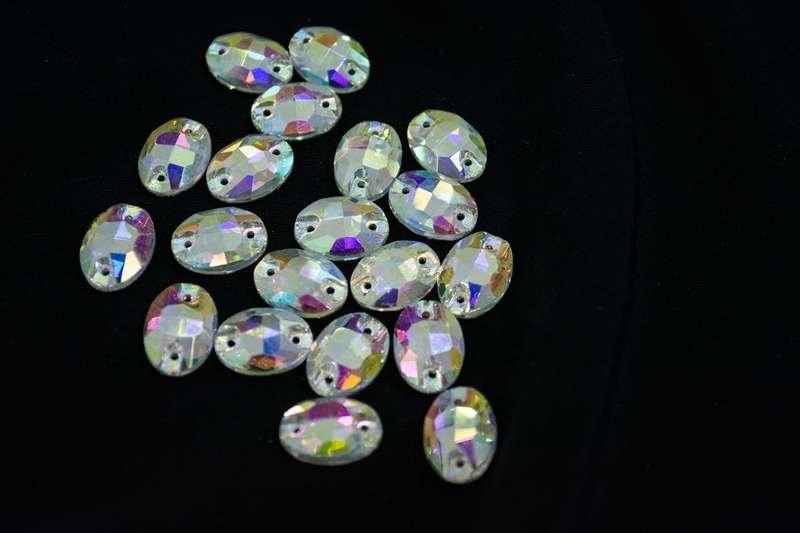 3210 10*14 Crystal AB (овал), шт