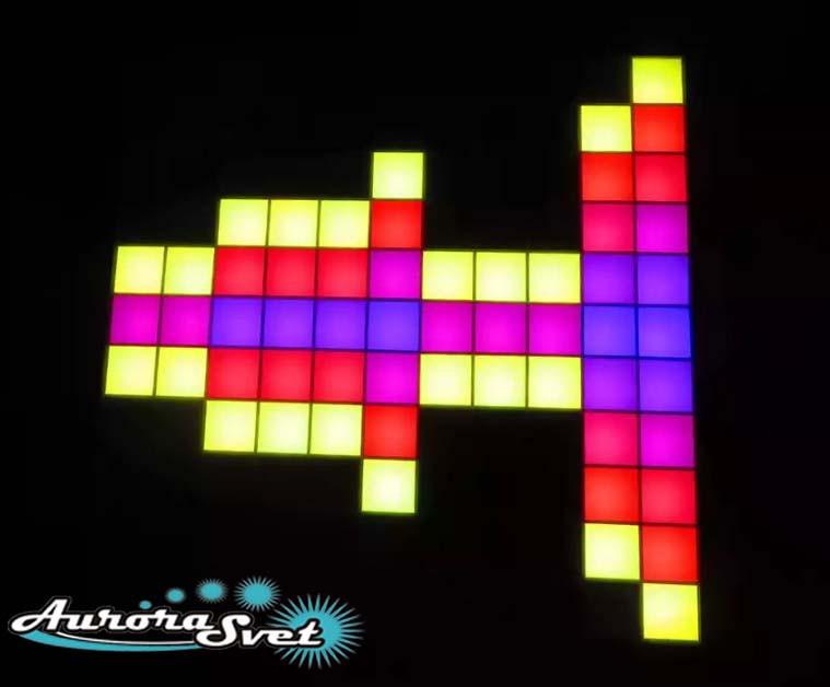 Светодиодная пиксельная панель напольная F-090-11*11-1-D