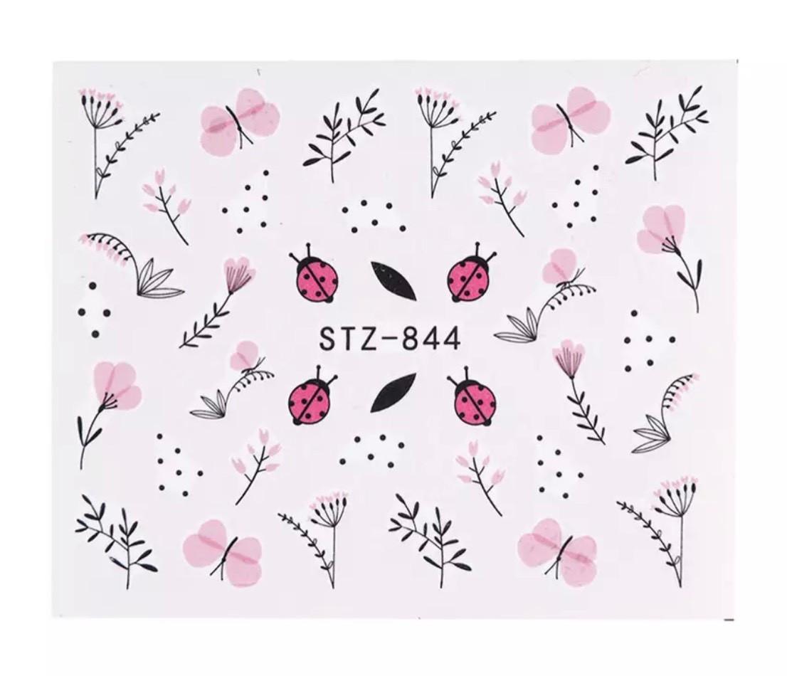 Слайд для дизайна ногтей STZ-844