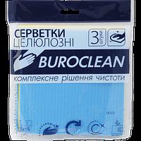 Салфетки целлюлозные влаговпитывающие Buroclean 15 х 15 см 3 шт