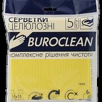 Салфетки целлюлозные влаговпитывающие Buroclean 15 х 15 см 5 шт