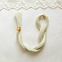 Волосы для кукол для перепрошивки, жемчужный 80 см, шелк,  50 гр
