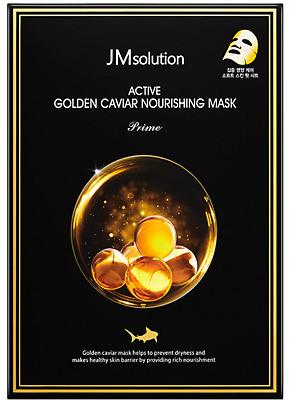 Питательная маска с икрой для упругости кожи JM Solution Active Golden Caviar Nourishing Mask