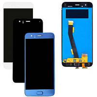 Дисплей  Xiaomi Mi6 + тачскрин, синий, со шлейфом сканера отпечатка пальца (Touch ID), оригинал