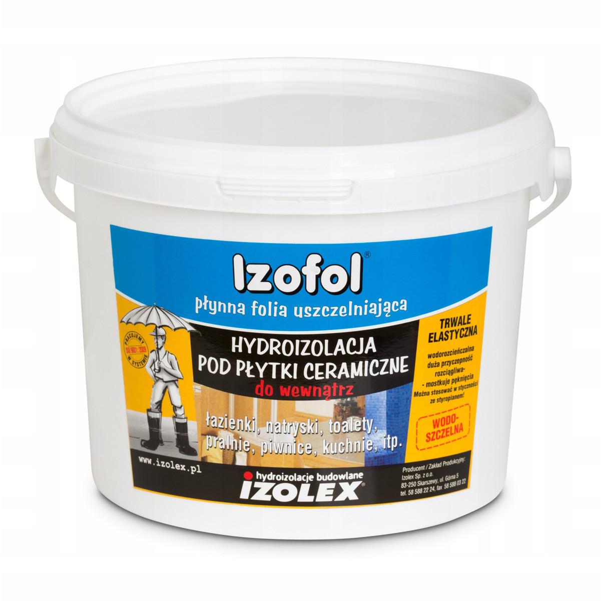 Мастика гідроізоляційна Izolex IZOFOL 4 кг