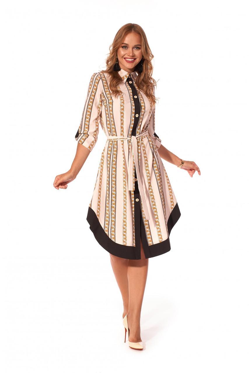 Платье - рубашка с фигурной отделкой.Разные цвета.