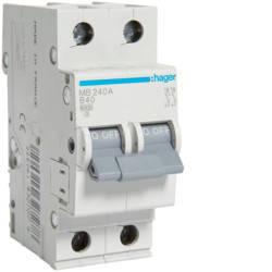 Автоматичний вимикач 40А, 2п, B, 6 kA, hager, Франція, фото 2