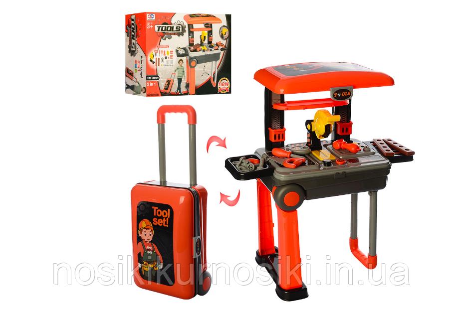 Детский набор инструментов, верстак — чемодан 008-922