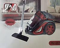 Мощный Колбовый Пылесос Циклонного типа Promotec PM-657 (3800W)