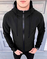 Куртка мужская осенняя / весенняя в стиле Puma Soft Shell черная