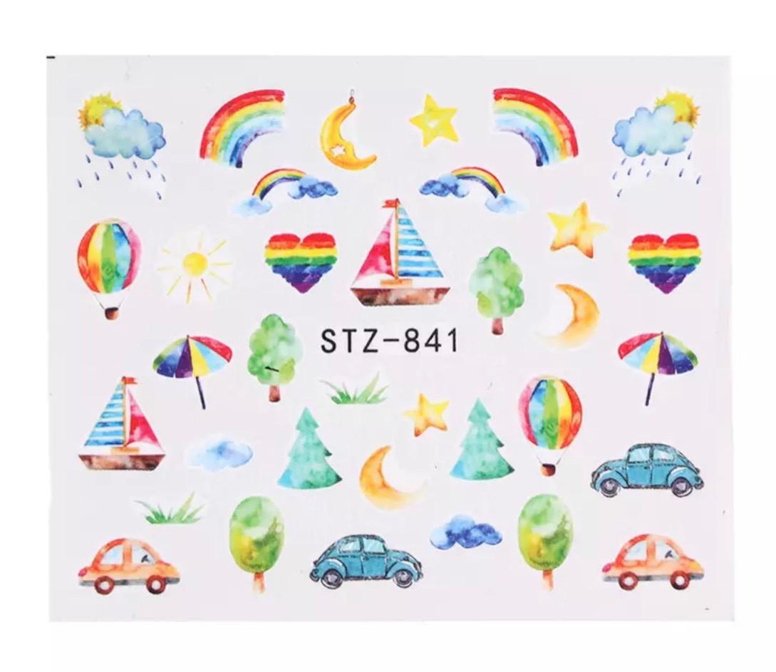 Слайд для дизайна ногтей STZ-841