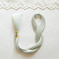 Волосы для кукол для перепрошивки, пепел 80 см,   50 гр