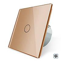 Сенсорный выключатель Livolo для Smart вытяжки цвет золотой стекло (VL-C701IH-13)