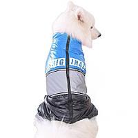 Зимовий комбінезон для собак «Original», синій, розмір 8XL, зимовий одяг для собак середніх та великих порід, фото 1