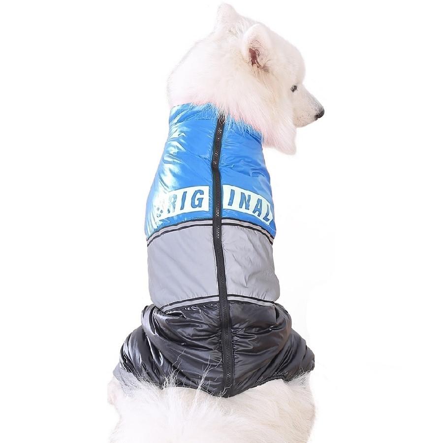 Зимовий комбінезон для собак «Original», синій, розмір 8XL, зимовий одяг для собак середніх та великих порід