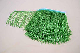 Бахрома зелена, стеклярус 14см, м