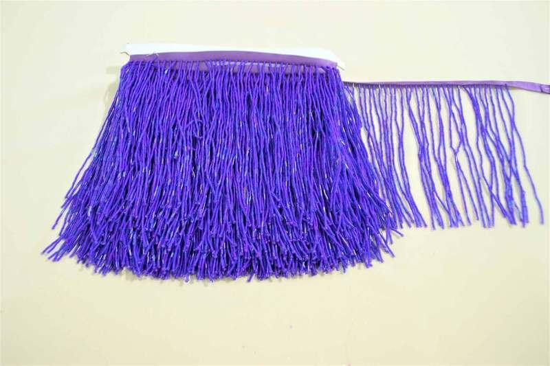Бахрома фиолетовая, стеклярус 14см, м