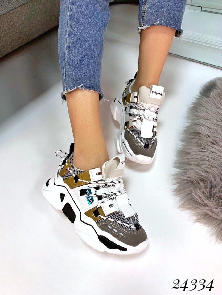 Женские кроссовки Balenciaga Track белый серый. Аналог