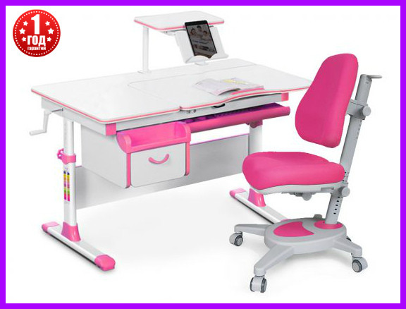 Комплект Evo-kids стол+ящик+полка+кресло  Evo-40 New PN