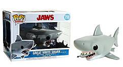 Фигурка Funko Pop Фанко ПопЧелюсти Акула людоедJaws w/ Diving tank Большая белая Акула с буйком J G759