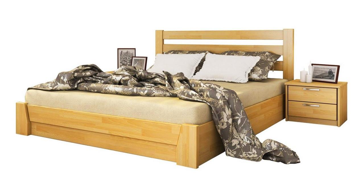 Ліжко Селена 120х190 Бук Щит 102 (Естелла-ТМ)