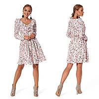 Романтичное платье для девушки (р.44,46,48,50 ) софт розовый