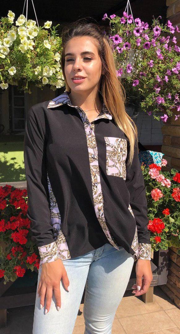 Стильная блуза Цепи 5027