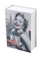 Книга-сейф с замком и 2 ключами (Монро) Металл/картон (26,5х20х6,5 см)
