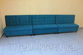 Мягкие лавочки для общественных заведений (голубые)
