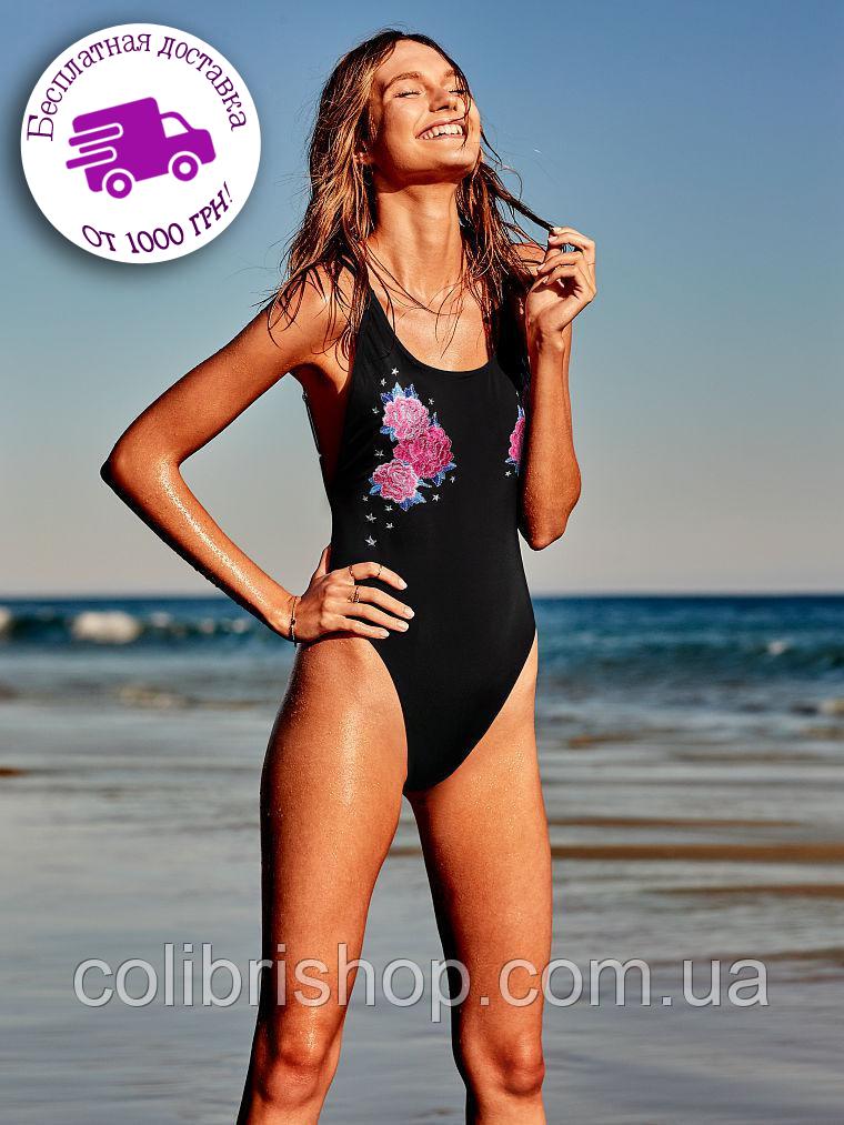 Купальник слитный Victoria's Secret PINK Embroidered High Leg One-Piece