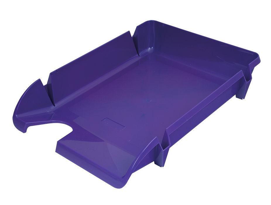 Лоток для ПАПЕРІВ горизонтальний «Компакт» фіолетовий