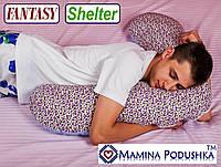 Подушка универсальная Fantasy Shelter. В комплекте: Наволочка двухсторонняя (Фиолет.цветочки / Т.синие точки)