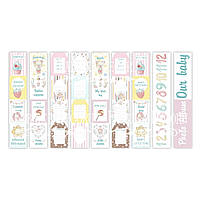 Карточки для декора Sweet baby girl (англ+рус)