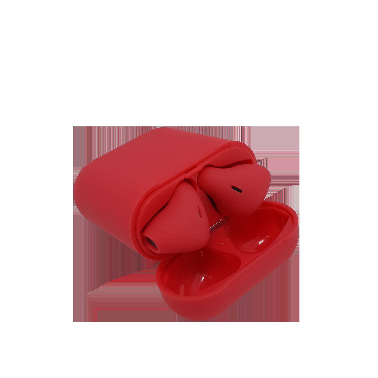 Беспроводные наушники tws i12 красные