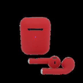 Беспроводные наушники tws i12 красные, фото 2