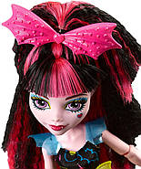 Кукла Монстер Хай Дракулаура Под напряжением Monster High Electrified Hair-Raising Ghouls Draculaura Doll, фото 3