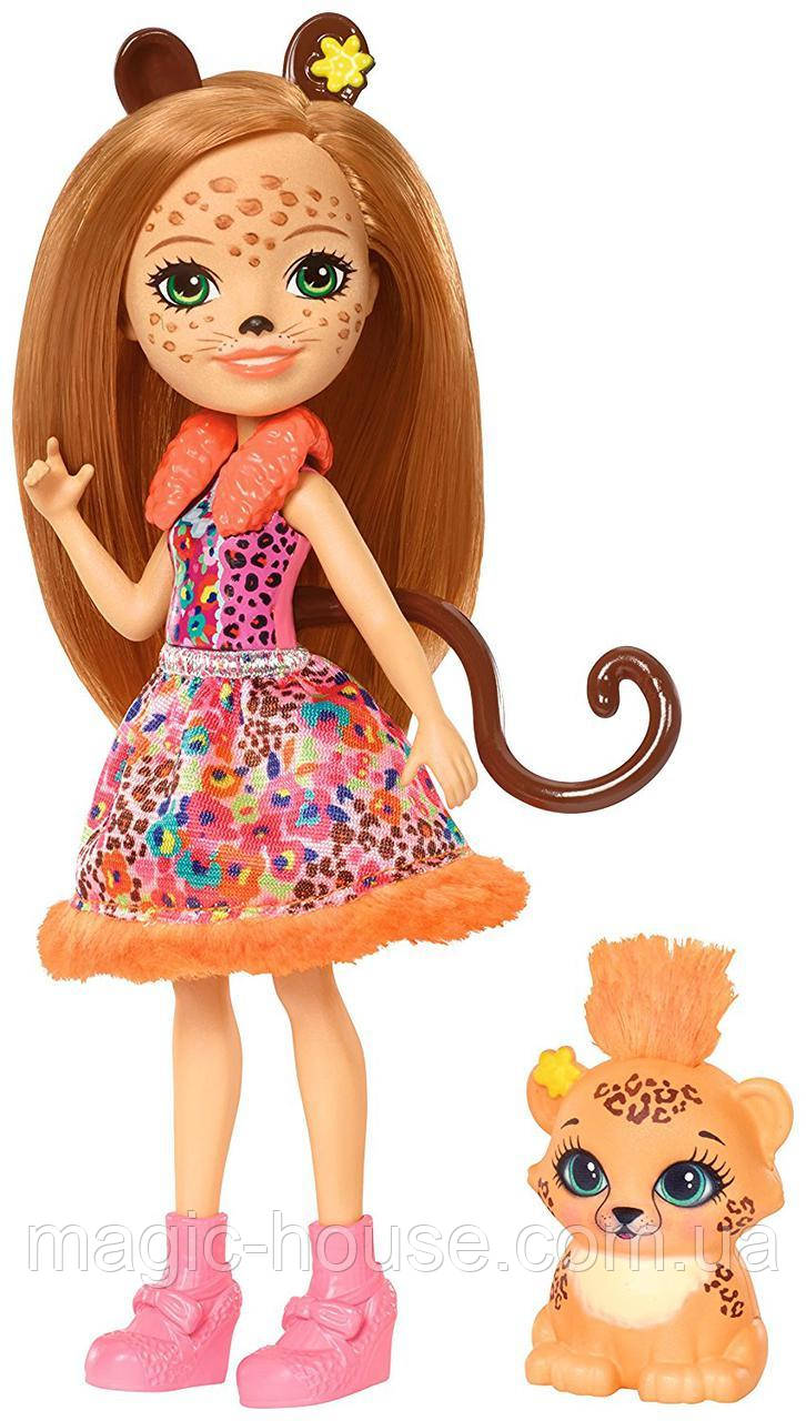 Лялька Энчантималс Гепард Чериш і Квік Квік Enchantimals Cherish Cheetah Doll with Quick-Quick